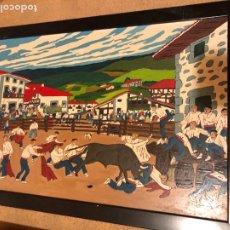 Arte: COLECCION DE ESCENAS VASCAS, BIEN PINTADAS Y ENMARCADAS, DISTINTOS TAMAÑOS. Lote 243250380