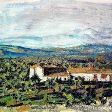 Arte: CASERIO EN SIERRA DE CAZORLA - FERNANDO ARGUAYO. Lote 243299405