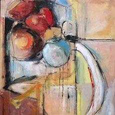 Arte: MESA CON FRUTAS - JUAN MUZ MARTINEZ YECLA 1960. Lote 243301310