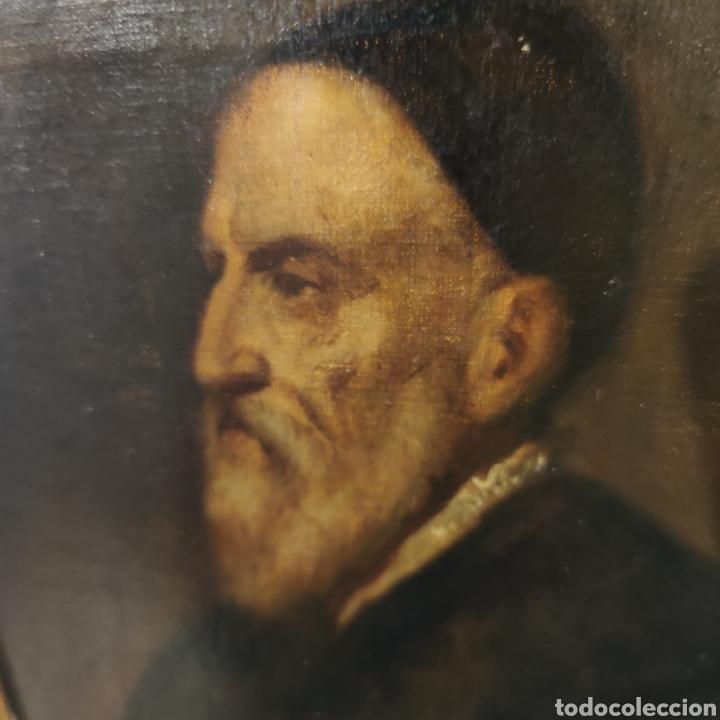 Arte: MUY INTERESANTE AUTORRETRATO DE TIZIANO - MUSEO DEL PRADO - SIGLO XVIII-XIX - OLEO SOBRE LIENZO - - Foto 9 - 100261555
