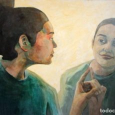 Arte: REFLEJO DE MUJER. OLEO SOBRE TABLA. 81X56CM. BUENA CALIDAD.. Lote 243381745