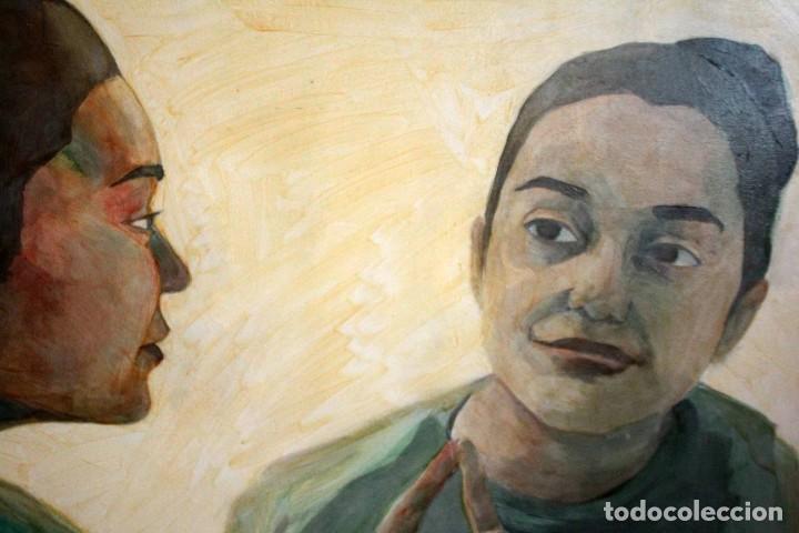 Arte: Reflejo de mujer. Oleo sobre tabla. 81x56cm. Buena calidad. - Foto 3 - 243381745