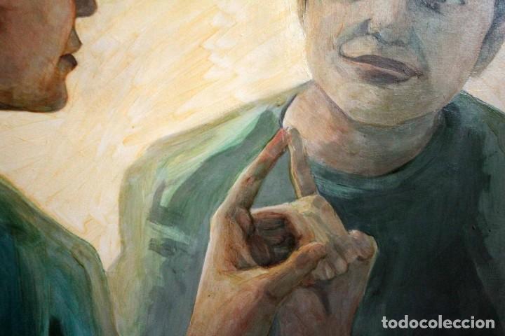 Arte: Reflejo de mujer. Oleo sobre tabla. 81x56cm. Buena calidad. - Foto 4 - 243381745