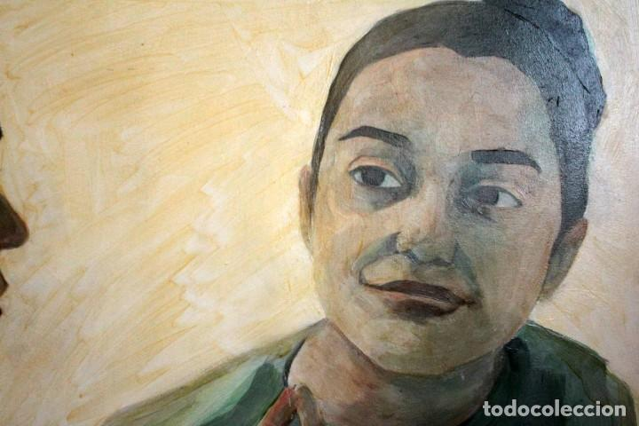 Arte: Reflejo de mujer. Oleo sobre tabla. 81x56cm. Buena calidad. - Foto 5 - 243381745