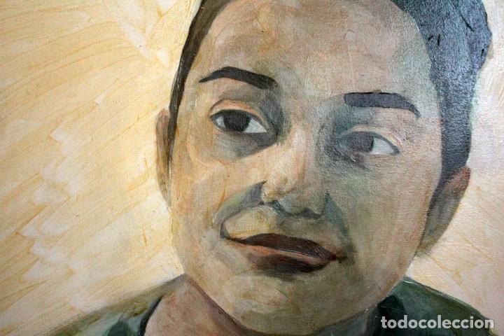 Arte: Reflejo de mujer. Oleo sobre tabla. 81x56cm. Buena calidad. - Foto 6 - 243381745