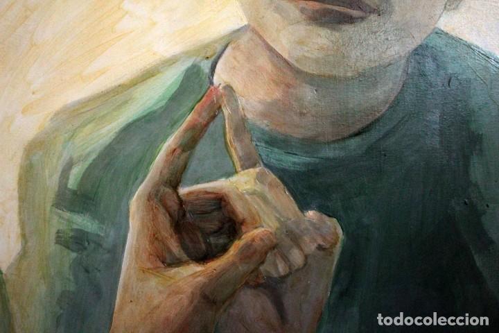 Arte: Reflejo de mujer. Oleo sobre tabla. 81x56cm. Buena calidad. - Foto 7 - 243381745