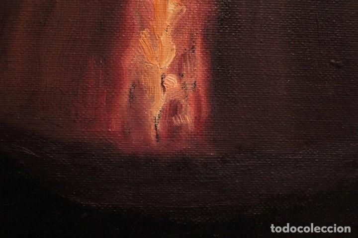 Arte: Soler. Oleo sobre lienzo. Bodegón de cerezas y caldera. Firmado y enmarcado. 53x45cm - Foto 7 - 243382085