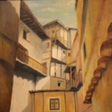 Arte: VISTA DE CALLE. OLEO SOBRE LIENZO. FIRMADO CARLOS JORDA. ENMARCADO 48X41CM. Lote 243383290