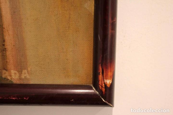 Arte: Vista de calle. Oleo sobre lienzo. Firmado Carlos Jorda. Enmarcado 48x41cm - Foto 13 - 243383290