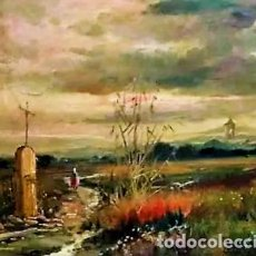 Arte: RAFAEL SERRANO SORIA 1921 - 1999 PAISAJE. Lote 243393400