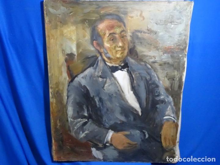 GRAN RETRATO AL ÓLEO DE FEDERICO AGUILAR ALCUAZ (FILIPINAS 1932-2011).IX DE 1974.PICASSO FILIPINO. (Arte - Pintura - Pintura al Óleo Contemporánea )