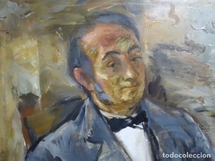 Arte: GRAN RETRATO AL ÓLEO DE FEDERICO AGUILAR ALCUAZ (FILIPINAS 1932-2011).IX DE 1974.PICASSO FILIPINO. - Foto 3 - 243488715
