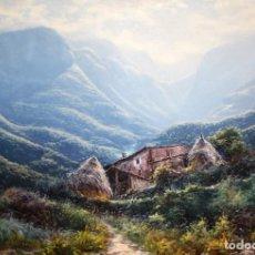 Arte: PERE COLLDECARRERA (OLOT, 1932 - 2020) OLEO SOBRE TELA. ALTA MONTAÑA (LA GARROTXA) 89 X 130 CM.. Lote 243534590