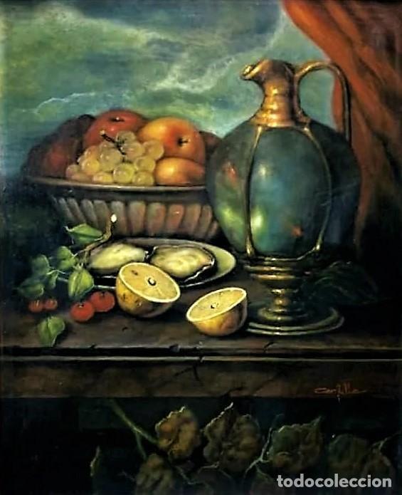 MESA CON JARRA Y FRUTOS - MIGUEL CASTILLO 1893 (Arte - Pintura - Pintura al Óleo Moderna sin fecha definida)