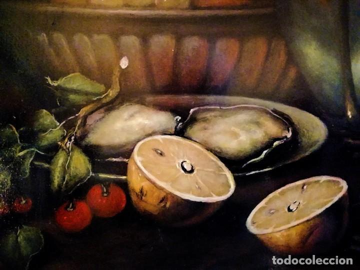 Arte: MESA CON JARRA Y FRUTOS - MIGUEL CASTILLO 1893 - Foto 2 - 243578105