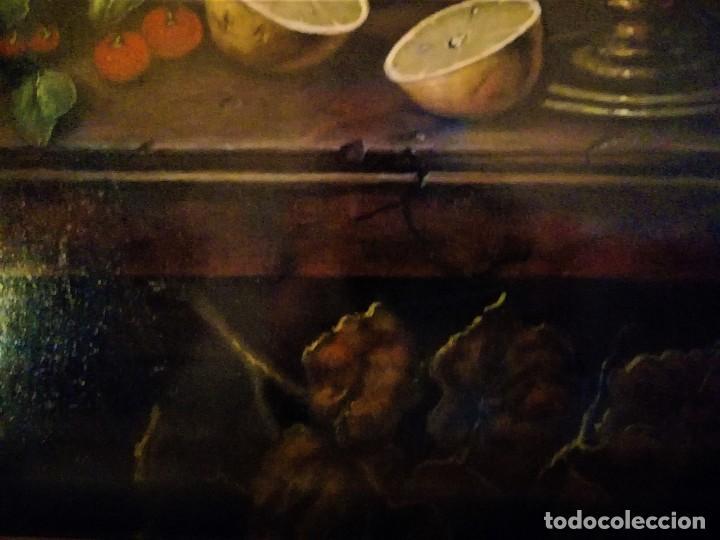 Arte: MESA CON JARRA Y FRUTOS - MIGUEL CASTILLO 1893 - Foto 3 - 243578105