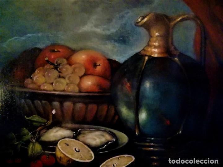 Arte: MESA CON JARRA Y FRUTOS - MIGUEL CASTILLO 1893 - Foto 5 - 243578105