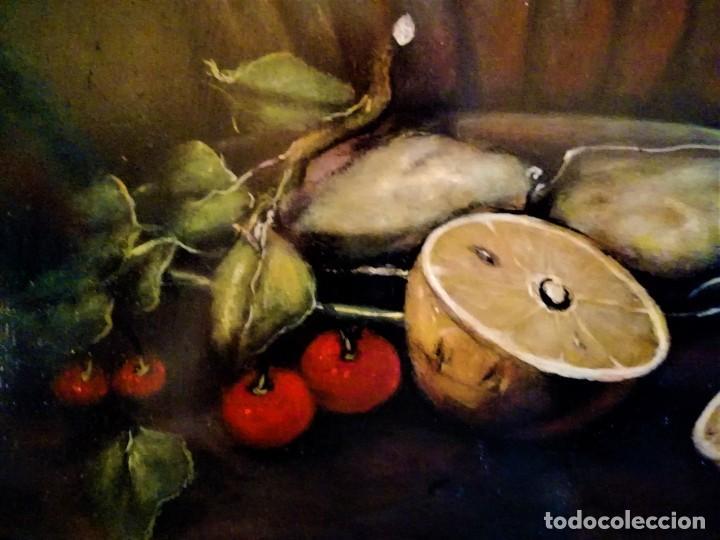Arte: MESA CON JARRA Y FRUTOS - MIGUEL CASTILLO 1893 - Foto 6 - 243578105