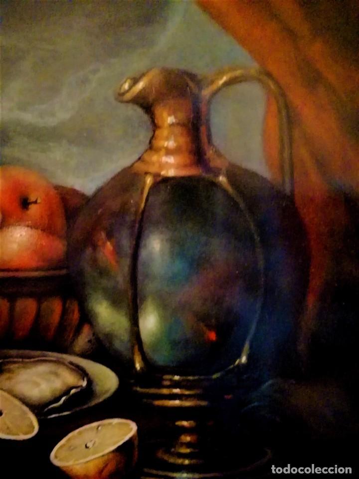 Arte: MESA CON JARRA Y FRUTOS - MIGUEL CASTILLO 1893 - Foto 7 - 243578105