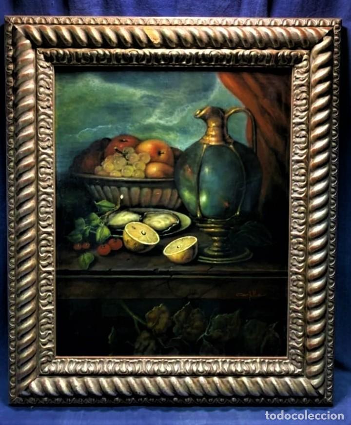 Arte: MESA CON JARRA Y FRUTOS - MIGUEL CASTILLO 1893 - Foto 9 - 243578105
