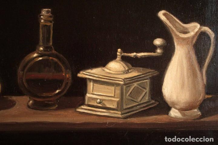 Arte: Bodegón pintado al oleo sobre lienzo. Firmado. Enmarcado 42x35cm - Foto 4 - 243578550