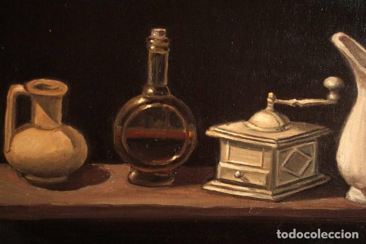Arte: Bodegón pintado al oleo sobre lienzo. Firmado. Enmarcado 42x35cm - Foto 5 - 243578550