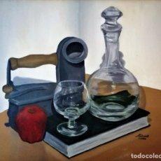 Arte: MESA CON CRISTAL Y CACHARROS PED RUA. Lote 243579485
