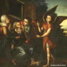Arte: ANTIGUA TABLA PINTURA RELIGIOSA DEL SIGLO XVII. Lote 243601985