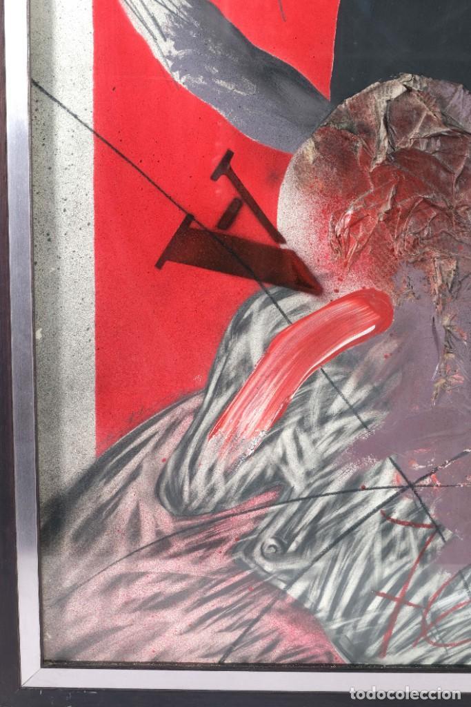 Arte: Técnica mixta sobre papel titulado El ejecutado firma ilegible en reverso 1976 - Foto 2 - 243665625