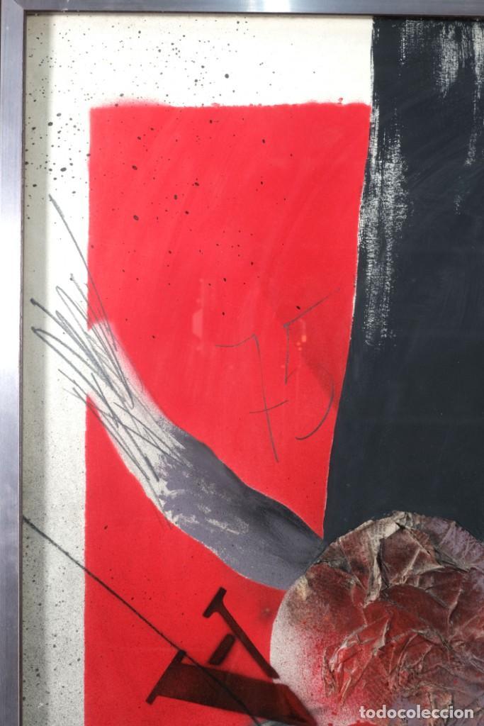 Arte: Técnica mixta sobre papel titulado El ejecutado firma ilegible en reverso 1976 - Foto 3 - 243665625