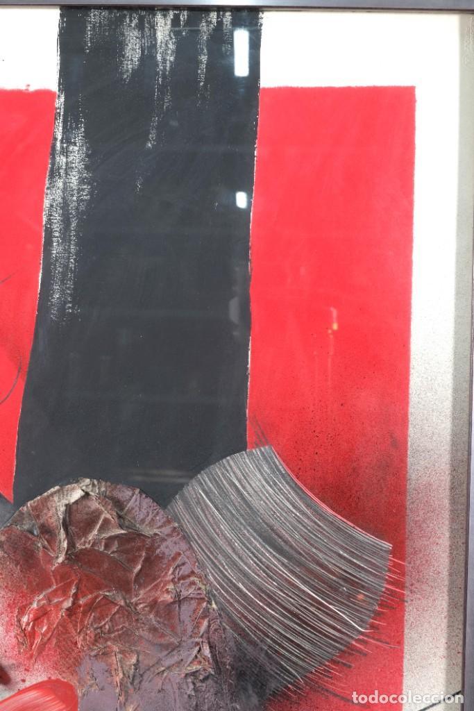 Arte: Técnica mixta sobre papel titulado El ejecutado firma ilegible en reverso 1976 - Foto 4 - 243665625