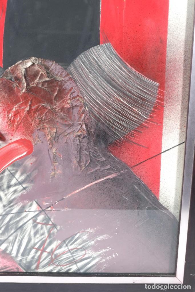 Arte: Técnica mixta sobre papel titulado El ejecutado firma ilegible en reverso 1976 - Foto 5 - 243665625