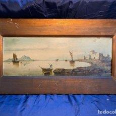 Art: MARINA, OLEO SOBRE TABLA FIRMADO POR A.FORTIN.. Lote 243758305