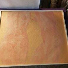 """Arte: OLEO SOBRE LIENZO LODEIRO """"PENSAMIENTO"""" VIGO 1973(100 CMS X 80CMS). Lote 243791100"""