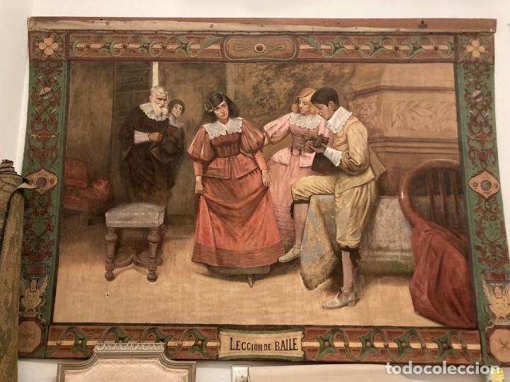 TAPIZ PINTADO AL OLEO POR FRANCISCO PORTELA (Arte - Pintura - Pintura al Óleo Moderna siglo XIX)