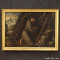 Arte: ANTIGUA PINTURA SAN FRANCISCO DEL SIGLO XVIII. Lote 243833765