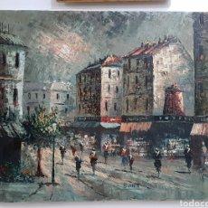 Arte: BONITO OLEO SOBRE LIENZO DE CARLIN BOURNETT.ESCENA PARISINA . MEDIDAS 46×55 CM.. Lote 243838135