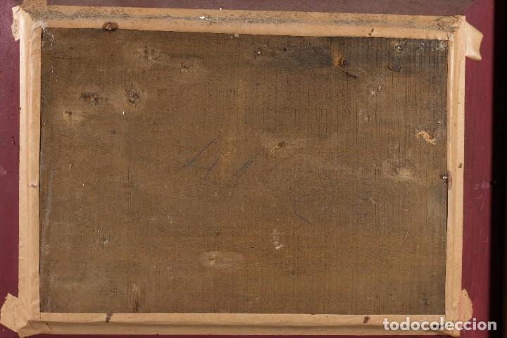 Arte: Óleo sobre lienzo Virgen con niño siglo XVII - Foto 8 - 243865680