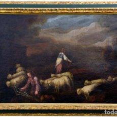 Arte: FRANCISCO DE ANTOLINEZ Y SARABIA.(1645-1700) ÓLEO SOBRE LIENZO. ESCENA BÍBLICA.. Lote 243950560