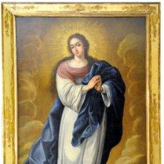Arte: ESCUELA SEVILLANA SIGLO XVII-XVIII. ÓLEO SOBRE LIENZO. INMACULADA. Lote 243950625