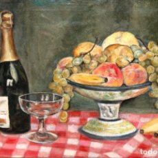 Arte: ROSA VIDAL TACOMET. OLEO SOBRE TELA FECHADO DEL AÑO 1930. BODEGON. Lote 243958515