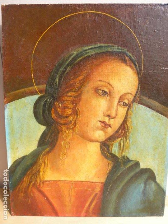 VIRGEN - OLEO (Arte - Pintura - Pintura al Óleo Antigua siglo XVIII)