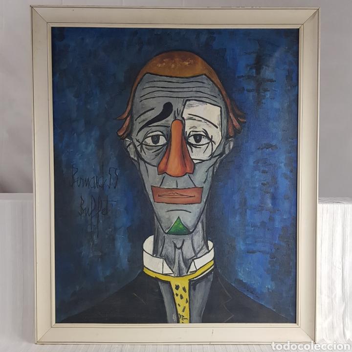 "Arte: ""Payaso"" Seguidor de Bernard Buffet 1958 - Foto 2 - 244196230"