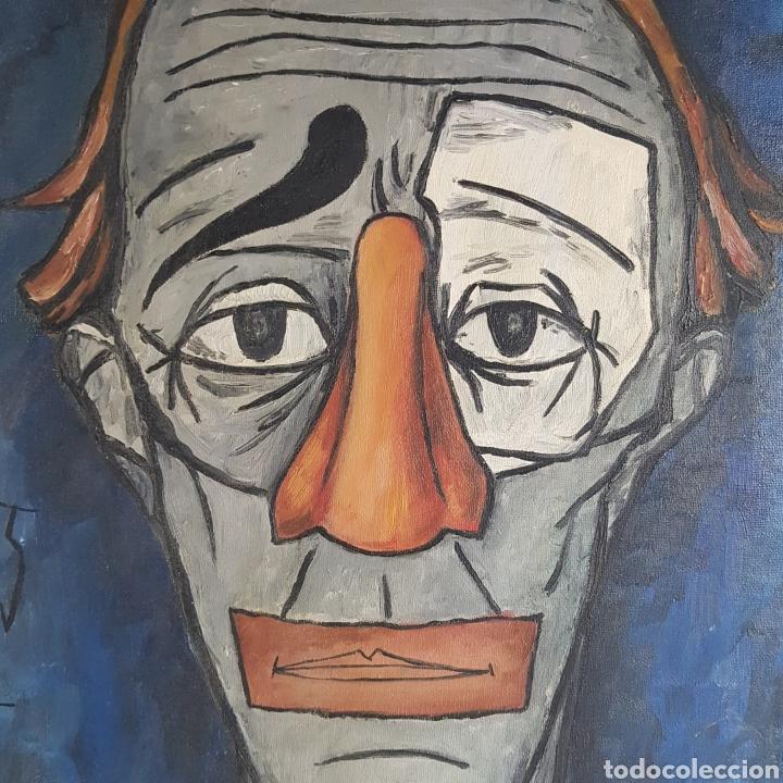 "Arte: ""Payaso"" Seguidor de Bernard Buffet 1958 - Foto 8 - 244196230"