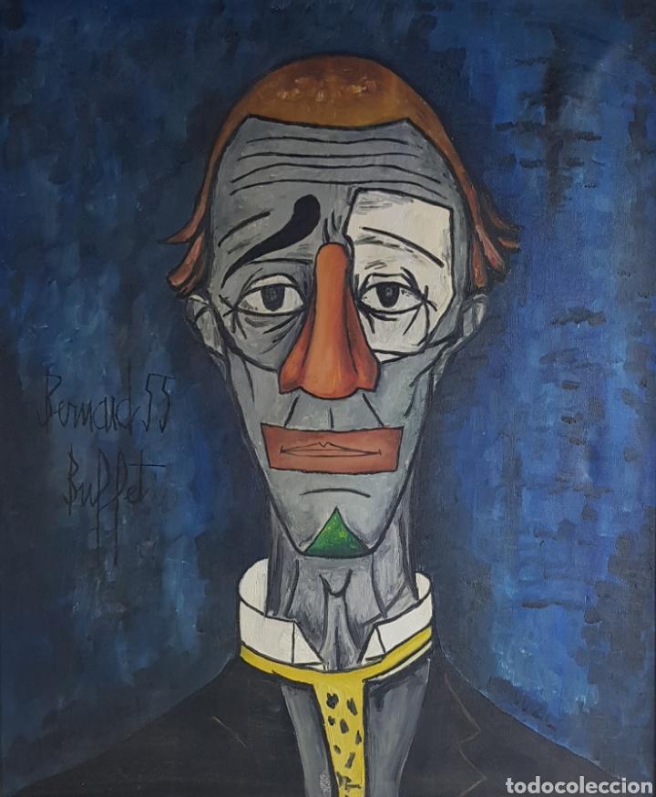 """""""PAYASO"""" SEGUIDOR DE BERNARD BUFFET 1958 (Arte - Pintura - Pintura al Óleo Contemporánea )"""
