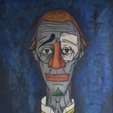"Arte: ""PAYASO"" SEGUIDOR DE BERNARD BUFFET 1958. Lote 244196230"