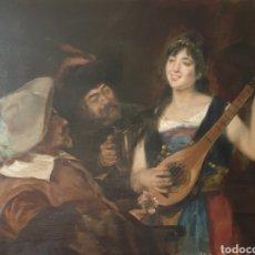 Arte: JOAN BRULL I VINYOLES (BARCELONA, 1863-1912) - ESCENA BURDEL.OLEO/TELA.FIRMADO.. Lote 242883685