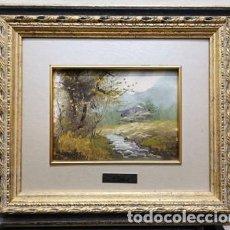 Arte: OLEO SOBRE TABLA ENMARCADO - PAISAJE DE N. LLORET - CUADRO-322. Lote 244414200