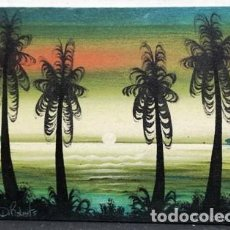 Arte: OLEO SOBRE LIENZO - FIRMADO D. ROBERTS - JAMAICA - CUADRO-323. Lote 244414655