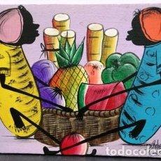 Arte: OLEO SOBRE LIENZO - FIRMADO D. ROBERTS - JAMAICA - CUADRO-324. Lote 244414875